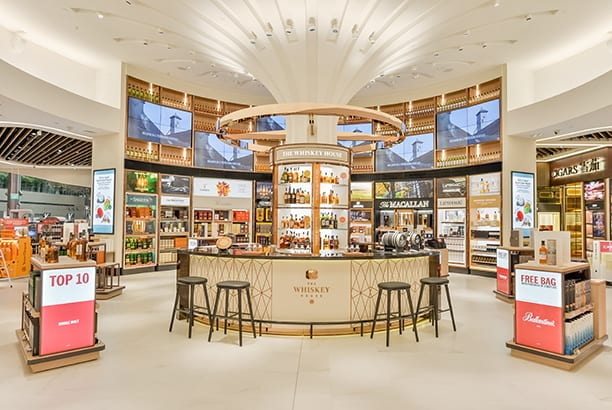 DFS unveils its new wines and spirits emporium at Singapore Changi Airport's newly opened Terminal 4