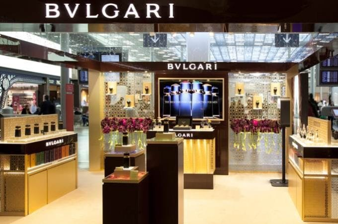 Bulgari's Temple of Glamour pops up at Paris CDG airport
