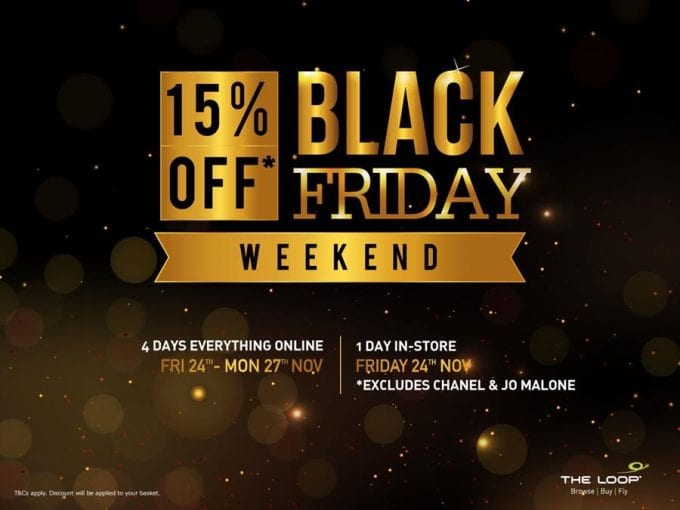 SAVE 15% on everything at Dublin's The Loop Duty Free this Black Friday Weekend
