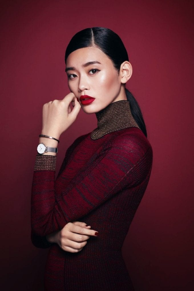 Elsa Hosk, Ming Xi & Cameron Dallas cheer the Holidays for Daniel Wellington