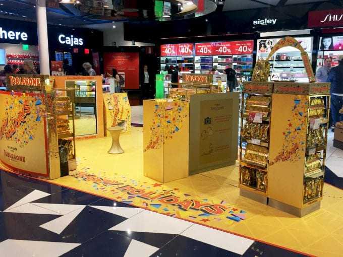 Toblerone wants travellers to #sayitwithtoblerone at Barcelona Duty Free