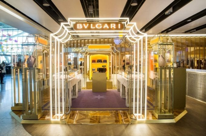Bulgari brings the golden glamour of Rome to London Heathrow's Terminal 5