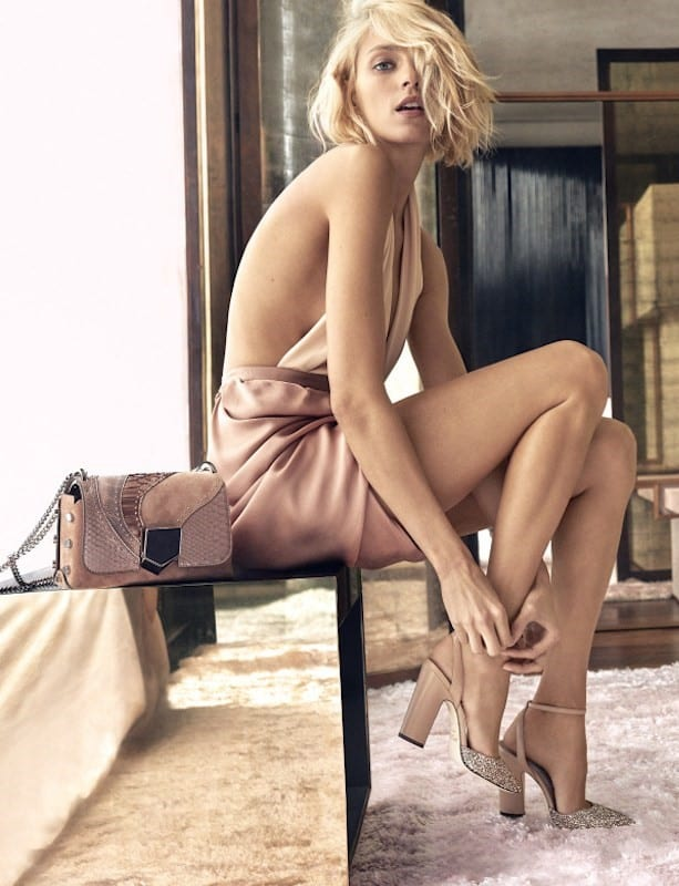 Anja Rubik plays provocateur for Jimmy Choo