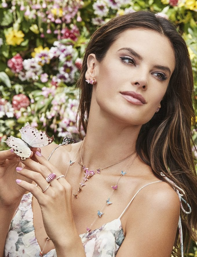 Swarovski debuts Rainbow Paradise collection with Alessandra Ambrosio
