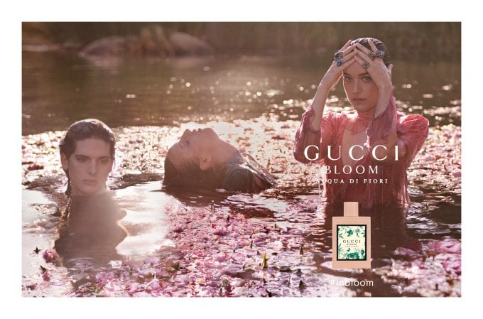 Gucci Bloom flowers with new Acqua Di Fiori edition