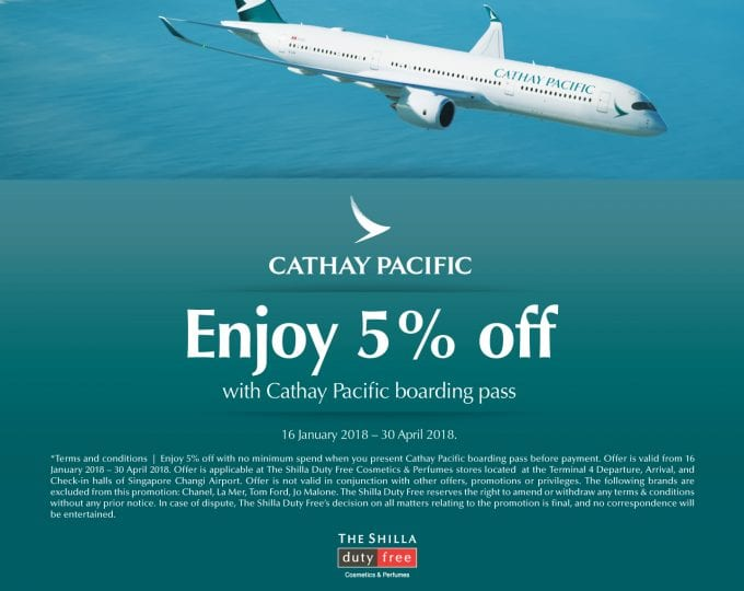 Cathay flyers can save on duty-free with Shilla Duty Free