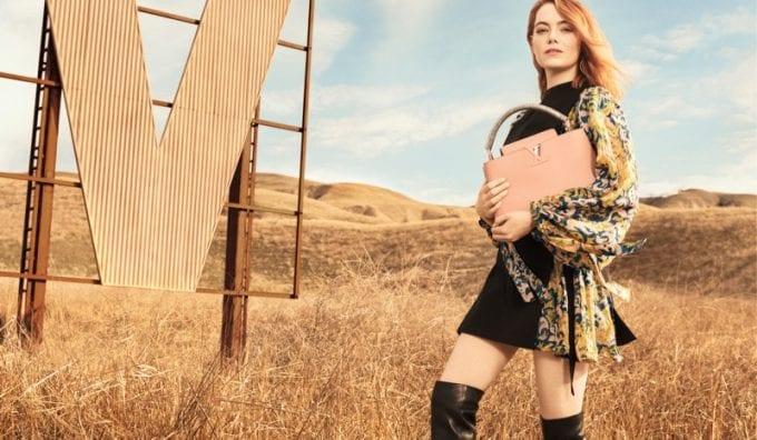 Emma Stone steps out in debut Louis Vuitton campaign