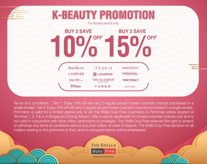 Shilla Duty Free's big K-Beauty Sale arrives at Singapore Changi