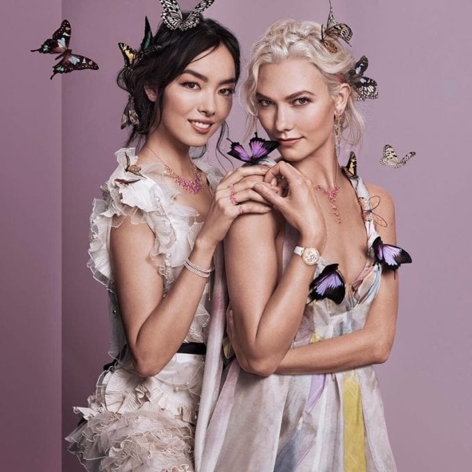 Butterflies, rainbows and Karlie Kloss deliver a Swarovski springtime