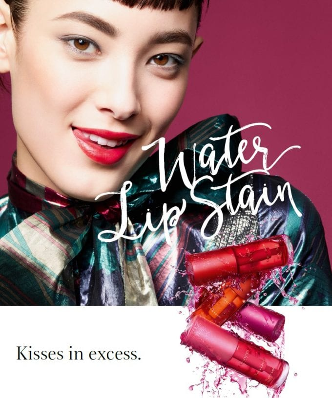Clarins says you can kiss whoever you like – and leave no trace