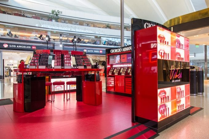 Armani wows at LAX with The L.A. Lip Vibes pop-up