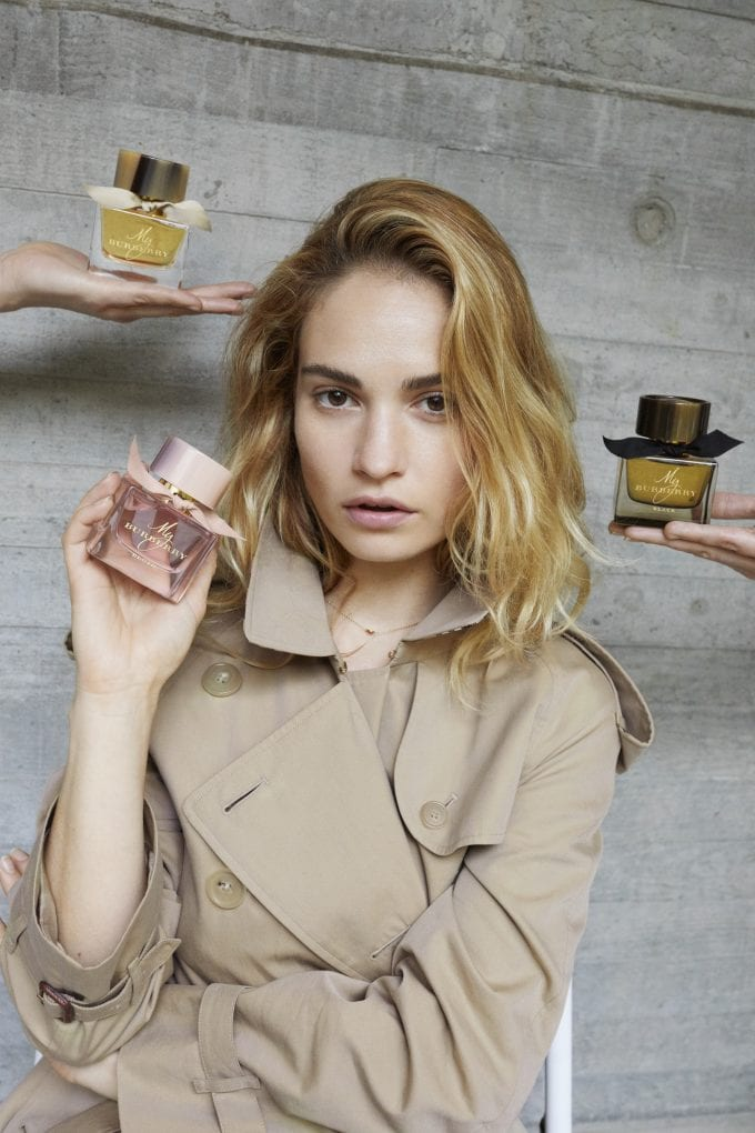 Lily James casts a spell in the new My Burberry perfume campaign