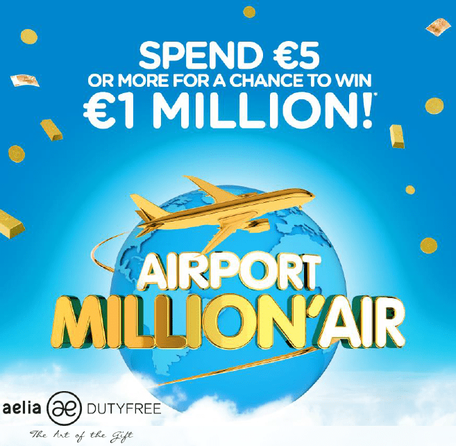 Become an Airport Million'Air – Aelia Duty Free rewards shoppers with huge campaign across Europe