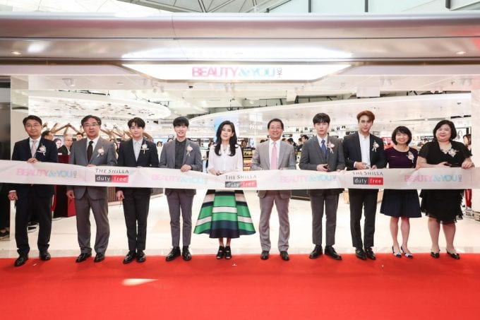 Shilla Duty Free cuts the ribbon on Beauty&You at Hong Kong Airport