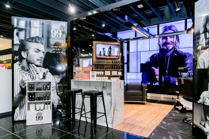 David Beckham brings grooming to airports with HOUSE 99 barbershop