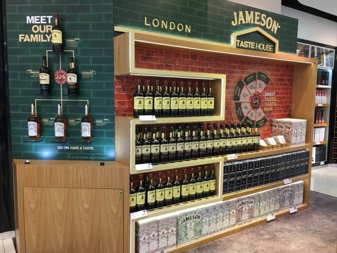 Jameson opens Tastehouse whiskey pop-up at London Gatwick Airport