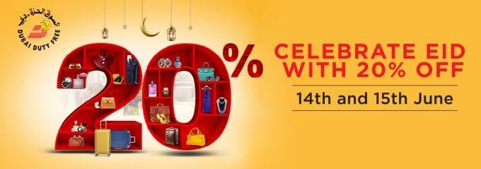 Dubai Duty Free celebrates Eid Al Fitr sale with 20% off promotion