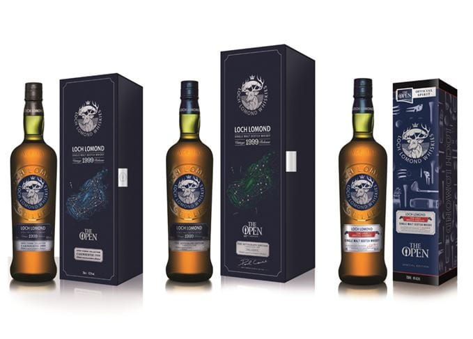 Spirit of The Open: Loch Lomond unveils three limited edition single malts created with golfing greats