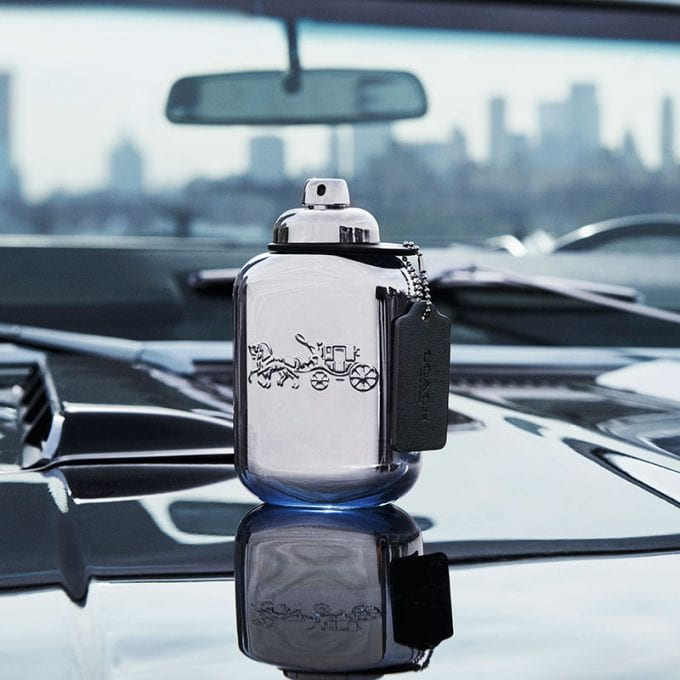 Coach takes a road trip with new Platinum men's fragrance
