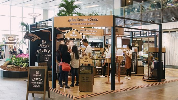 Dewar's Fine Whisky Emporium pops up with DFS (and a chicken) at Singapore Changi Airport