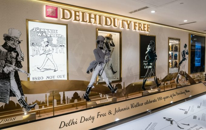 Delhi Duty Free celebrates 110 years of the Iconic Johnnie Walker Striding Man