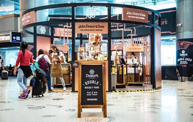 Dewar's Whisky Emporium pops up at Miami International Airport