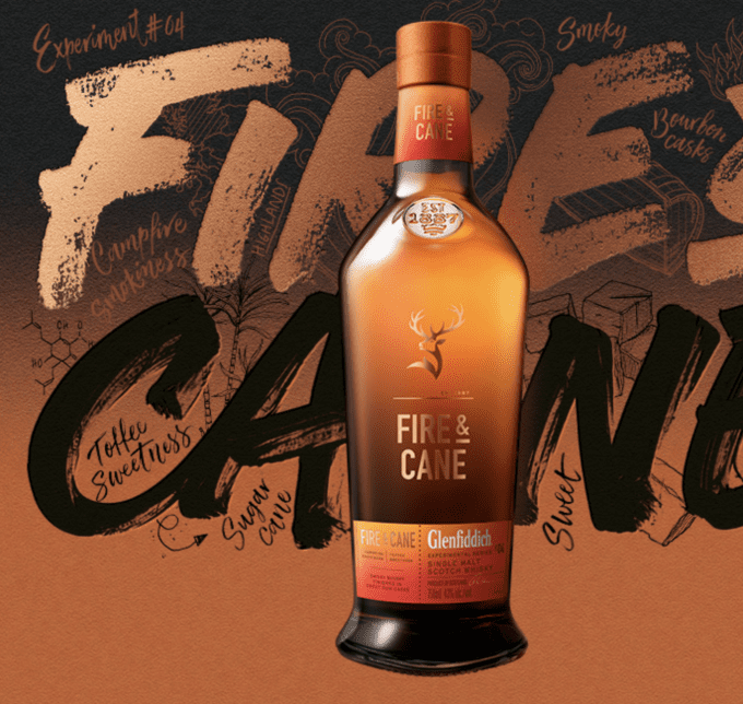 Glenfiddich Fire & Cane Single Malt joins Experimental Series