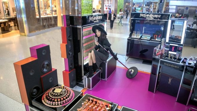 YSL rocks travellers with Dare to Stage beauty event at LAX