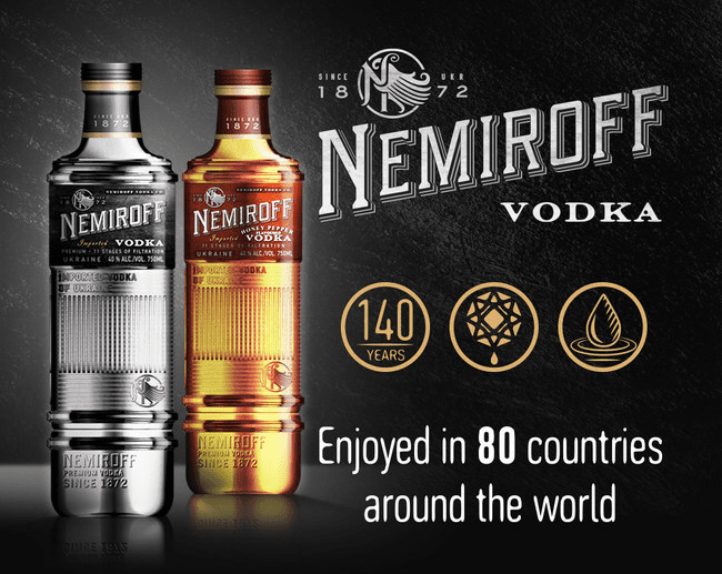 Nemiroff Vodka toughens up its look with new styling