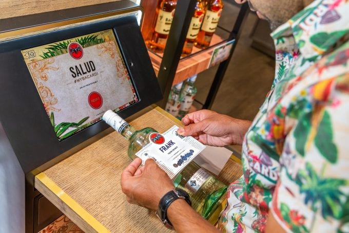 Bacardi makes it personal for Frankfurt airport shoppers with #MyBacardi campaign