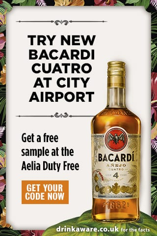 BACARDÍ Cuatro debuts in duty-free with digital promotions at London Airports