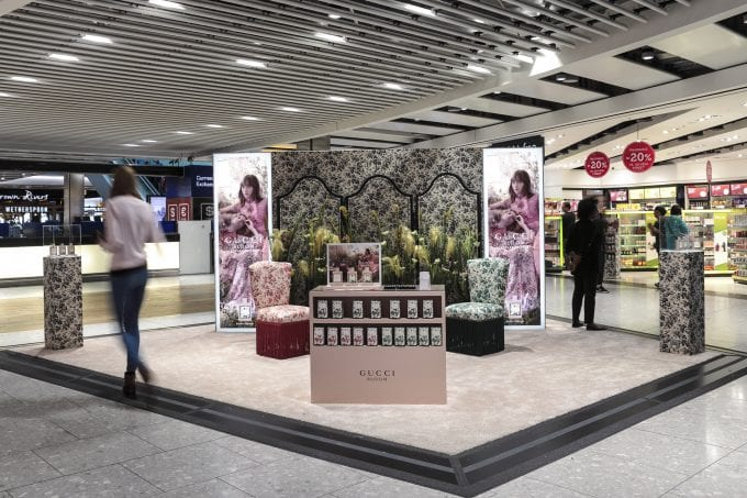 Gucci's new Bloom Nettare di Fiori pops-up in airports