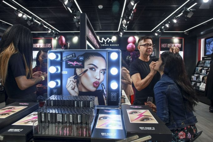 NYX Professional Makeup touches down at New York JFK airport