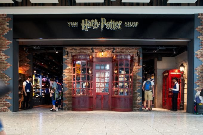 Harry Potter casts spells at London's Heathrow Terminal 5