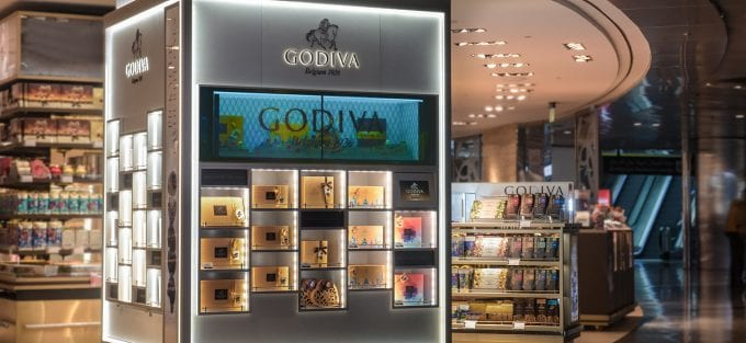 Qatar Duty Free and Godiva reveal interactive display at Doha's Hamad International Airport