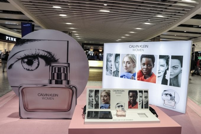 Calvin Klein WOMEN 'pop-up' in airport duty-free