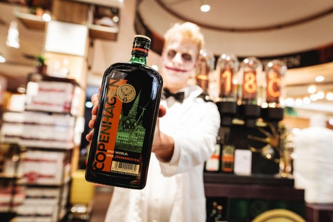 Jägermeister gets into the Halloween Spirit at Copenhagen Airport Tax Free