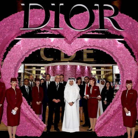 DIOR and Qatar Duty Free launch world exclusive DIOR LES PARFUMS at Doha Hamad International