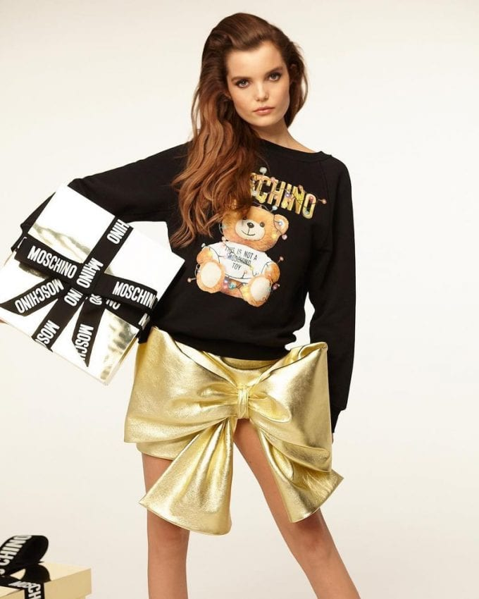 Moschino's Teddy Bear mascot is back for the Holidays