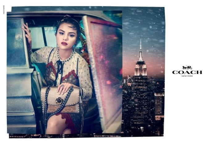 Lights, Camera, Holiday! Selena Gomez lights up the Coach Holiday Campaign