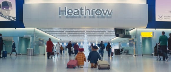 It's Bear-ginning to look a lot like Christmas at London Heathrow