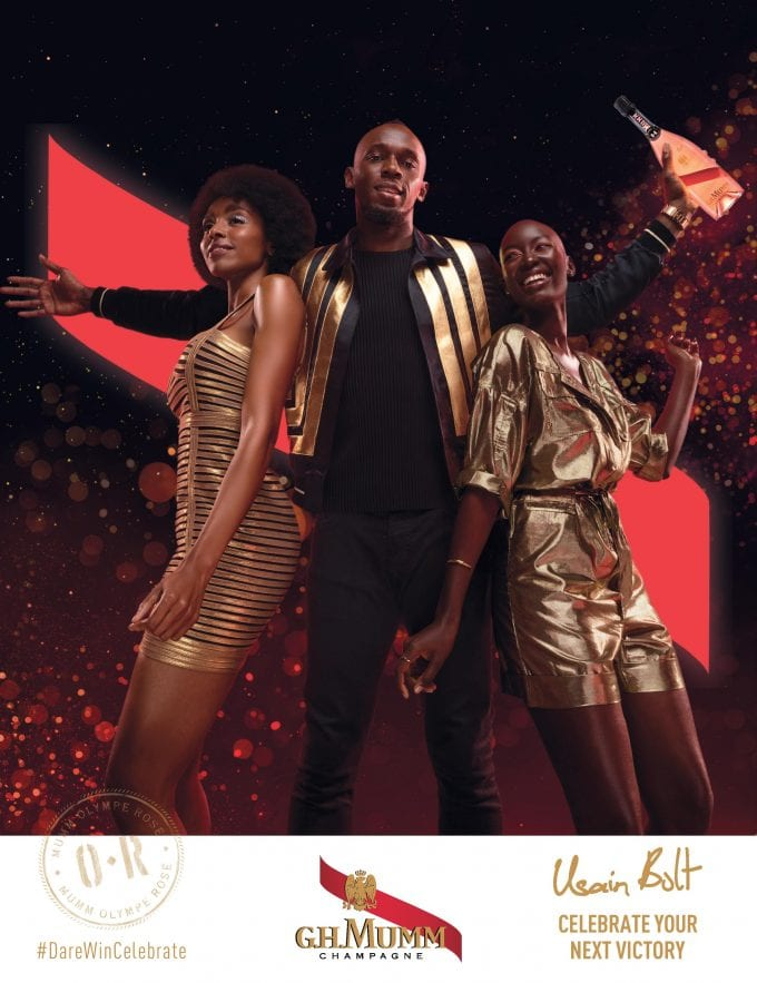 Usain Bolt teams up with Mumm to create Champagne Mumm Olympe Rosé