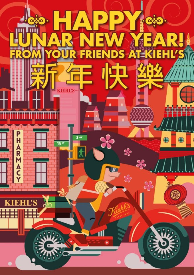 Kiehl's X Jonny Wan pops up at Singapore Changi Airport for Lunar New Year