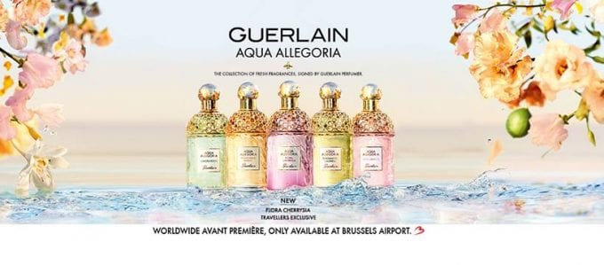 Guerlain unveils Flora Cherrysia as global duty-free exclusive avant première at Brussels Airport