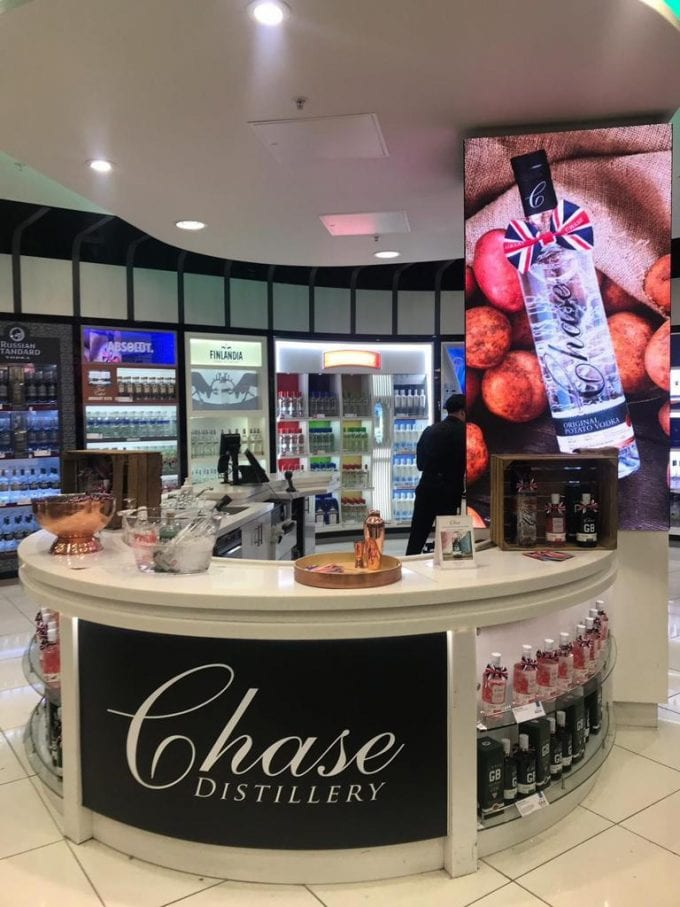 Chase Distillery mixes it with Heathrow airport shoppers