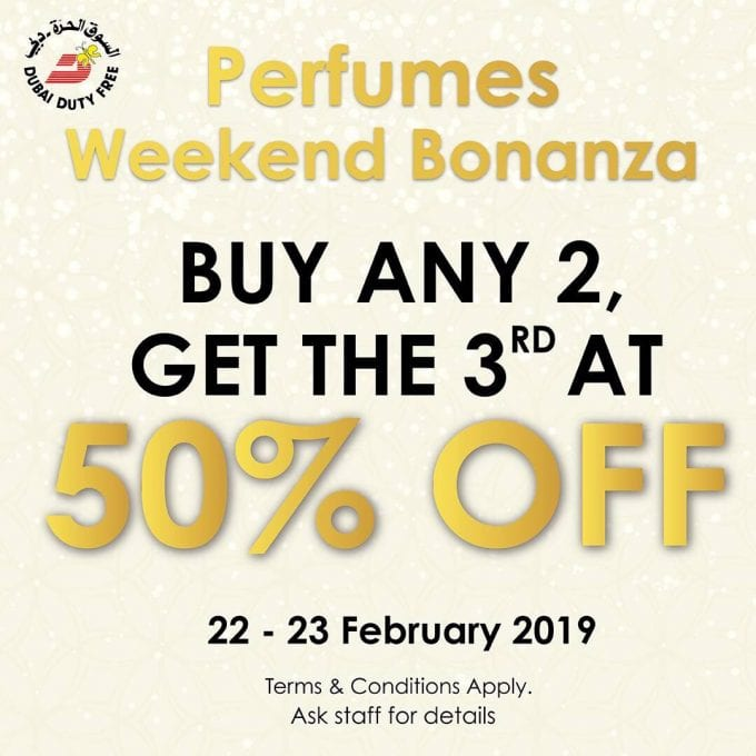Dubai Duty Free's perfume bonanza is on this weekend