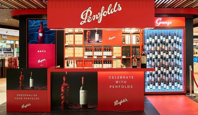 Penfolds unveils Tasting Bar and stunning 98-bottle Grange display at Sydney Airport