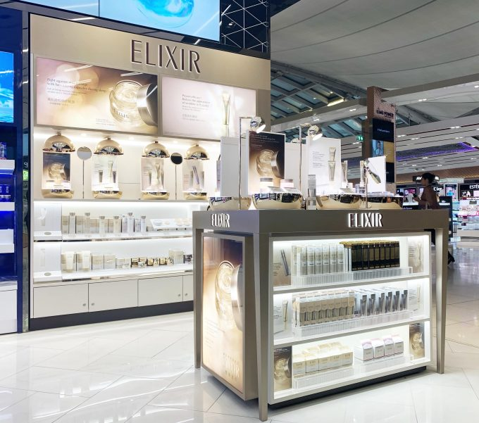 Japanese skincare brand Elixir debuts in duty-free with King Power