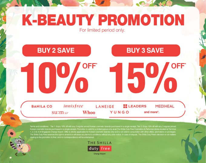 K-Beauty deals lead the way into Spring at Singapore Changi's Shilla Duty Free
