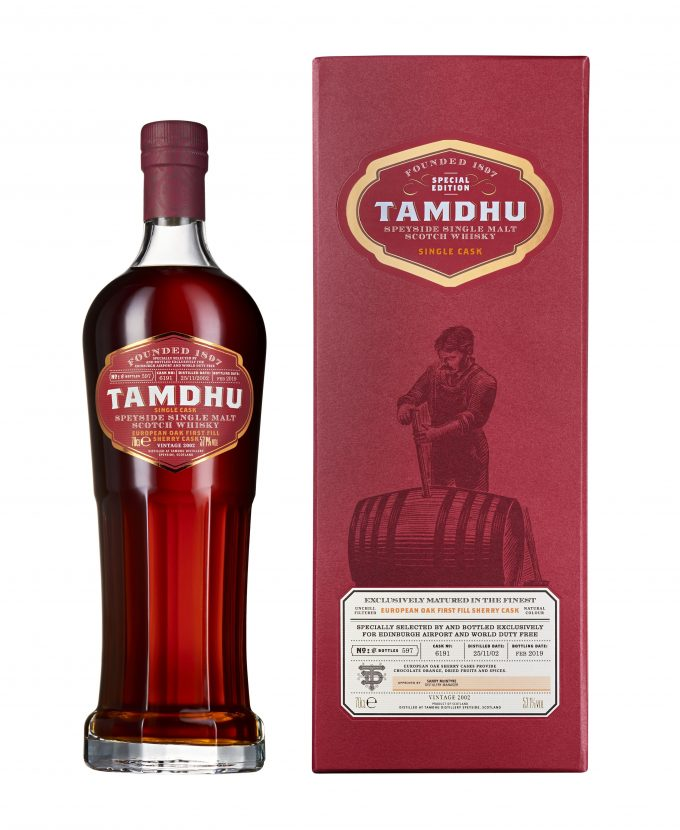 Tamdhu Malt Whisky launches first airport exclusive Single Cask with Dufry at Edinburgh Airport